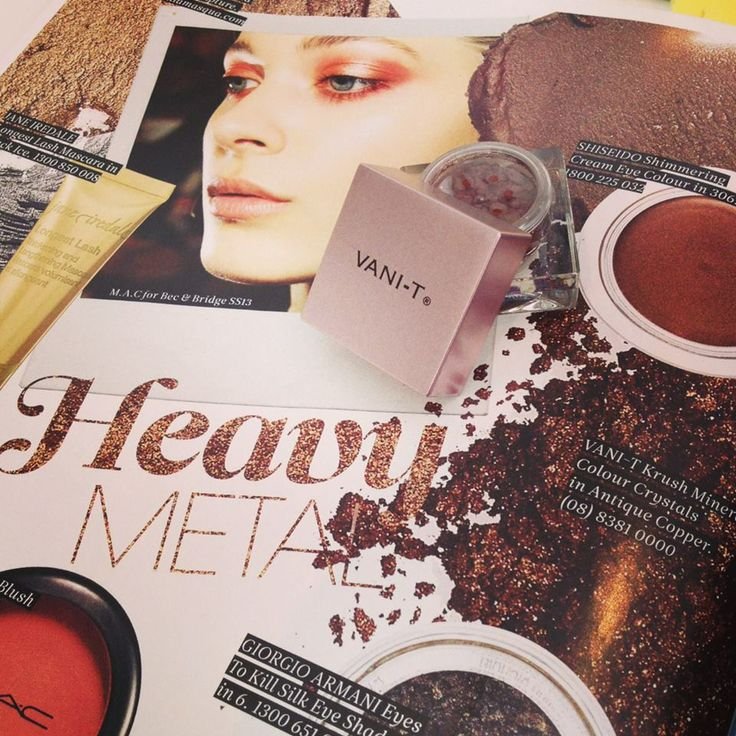Heavy metal lovers - check out Vani-T in the latest issue of Instyle-Magazine. Loving this luscious metallic Antique Copper shade for the weekend!