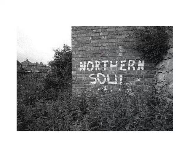Northern Soul, exposed brick wall, maybe more a engaging painting ( northern soul fist)