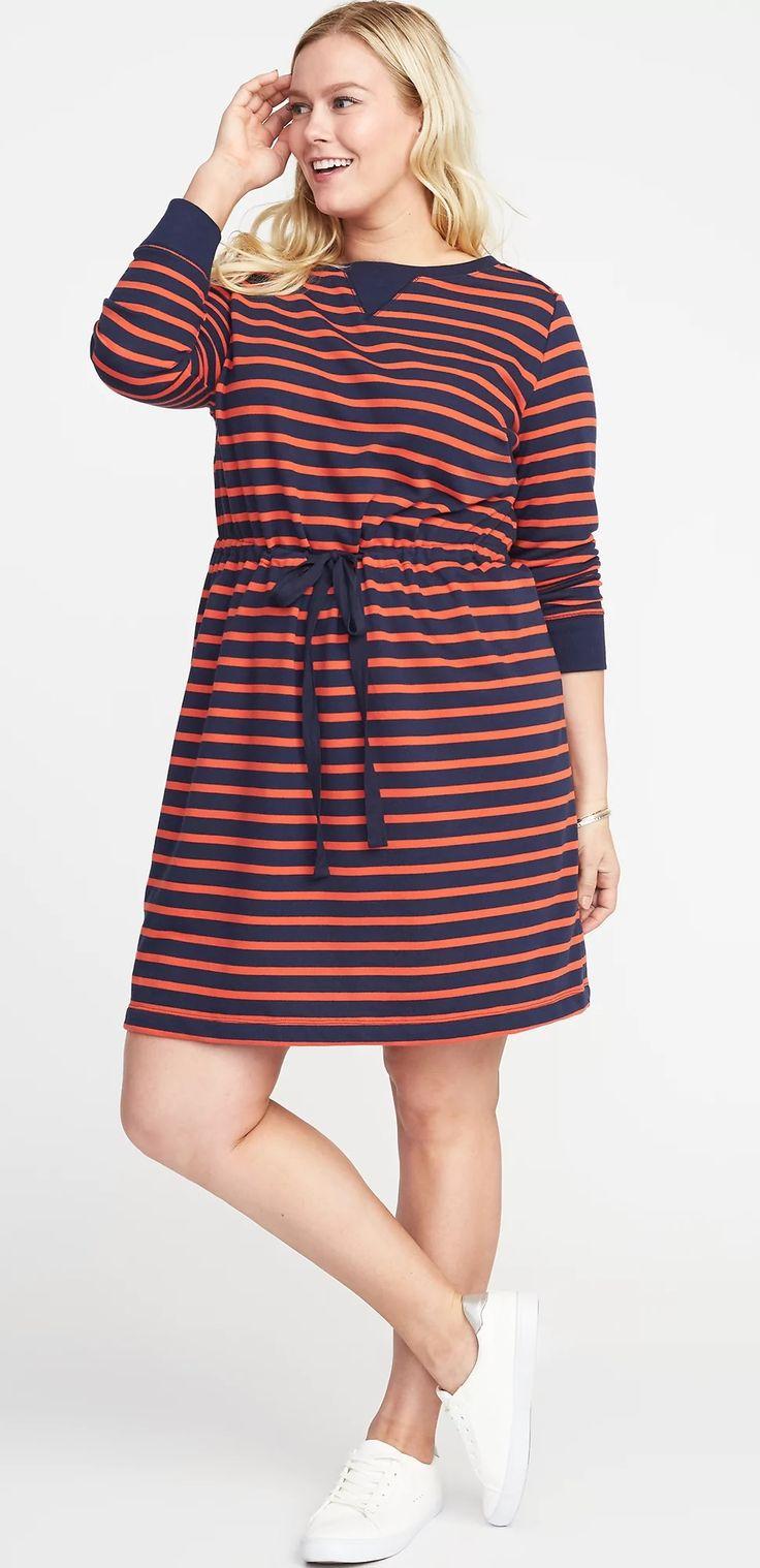 Plus Size Striped Dress