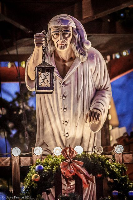 Scrooge at the Southbank Christmas market - Christmas Carol is the quintessential London story