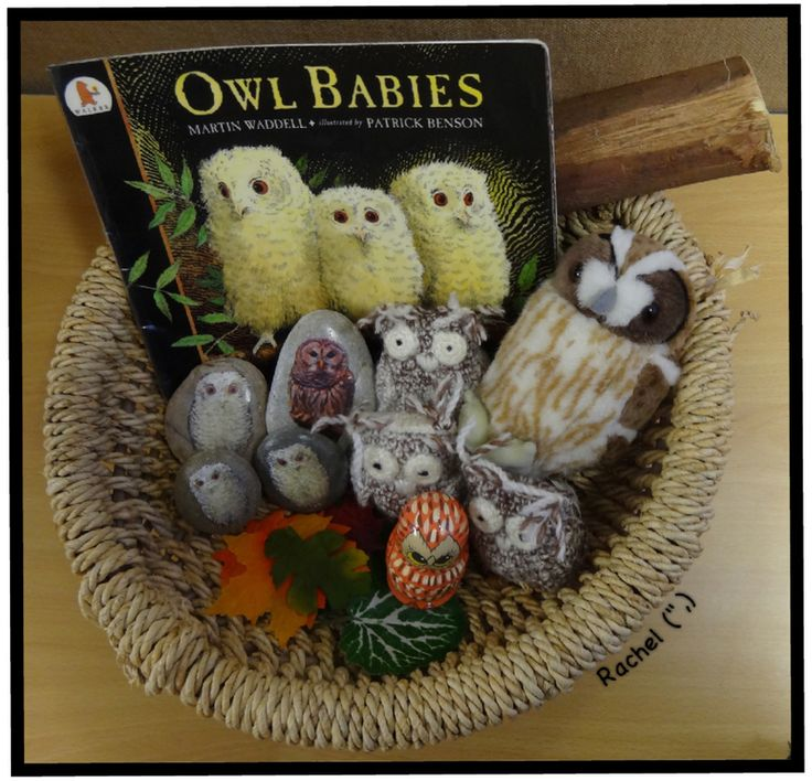 "Owl Babies story basket from Rachel ("",)"
