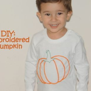 DIY: Embroidered pumpkin for my kid