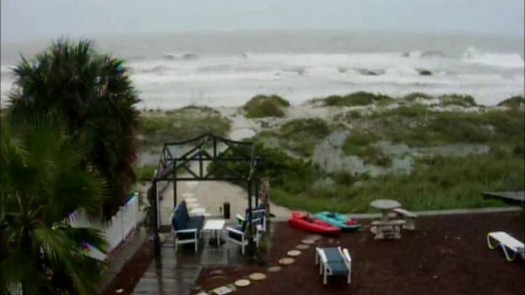 Indians Shores Gulf Coast Before Hurricane Land Fall, Emergency, Trees D...