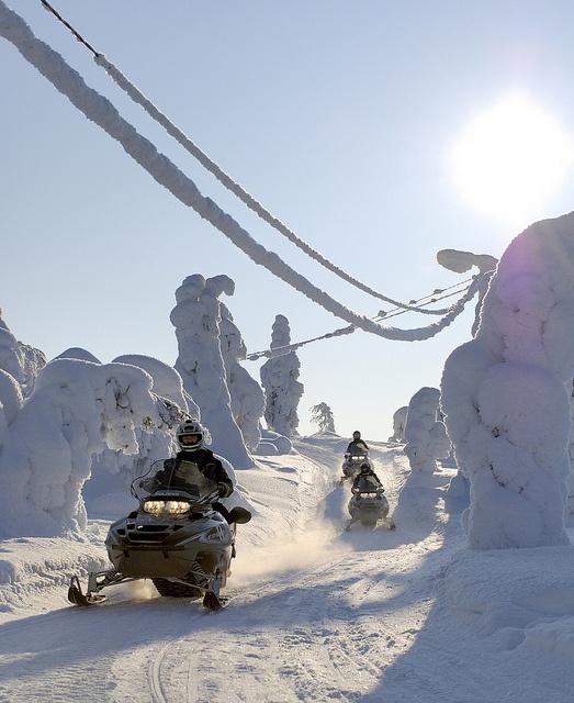 Snowmobile race in Isosyöte, Finland by Visit Finland, via Flickr
