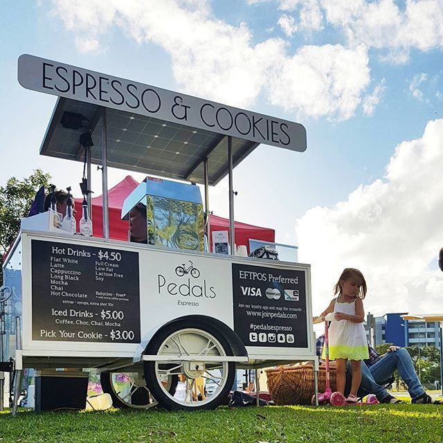 We had the pleasure of visiting our Hervey Bay franchise on Mothers day, Jay had set up at a relaxed concert near the beach with her family :) It was a very happy day had by all! #pedalsespresso #bikingbarista #baristalife #bicyclecoffeecart #cart #mothersday #happy #love #fun #sunshine #relax #beach #joy #beautiful