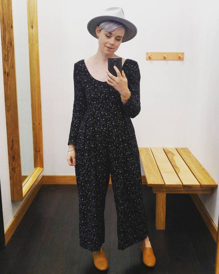 #ootd #vintageclothing #jumpsuit #yellow108 #everdaymadewell #wellheeled #mondays #caseofthemondays #lookoftheday #dressingroomselfies