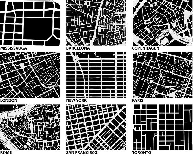 Image from Urban fabric/form comparison: Spacing Toronto by Michael Surtees, via Flickr: Urban Design, New York Cities, Urban Plans, Patterns, Cities Maps, Cities Street, Architecture, Cities Grid, Design Blog