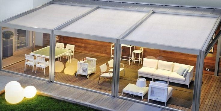 Contemporary Deck with CoolFunLight LED Lighting Pool & Decoration Sphere, Covered patio