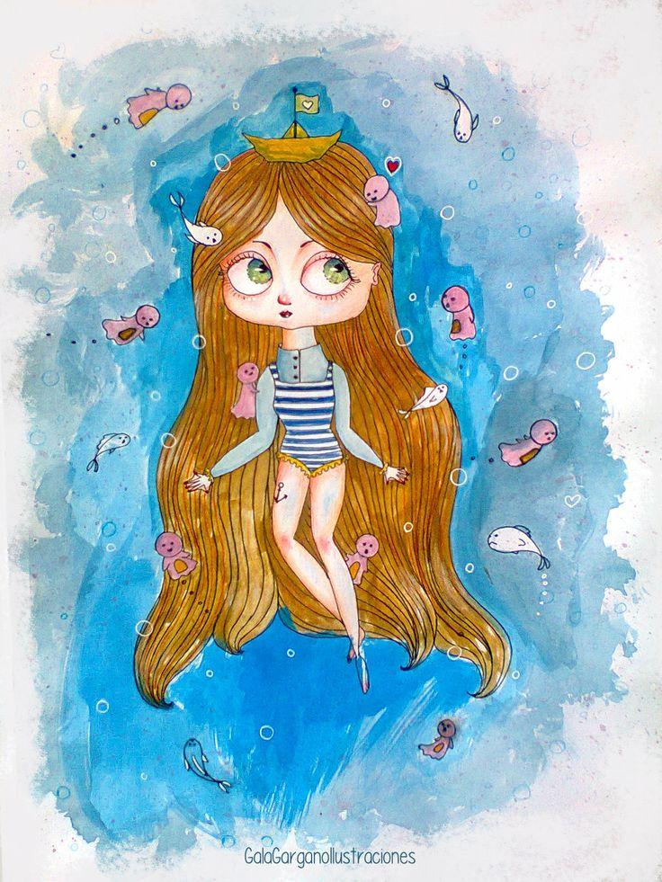 Sea Girl. by Gala Gargano Ilustraciones