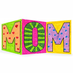 Mother's Day card - for younger kids have the letters on separate paper and then later glue on to the card.