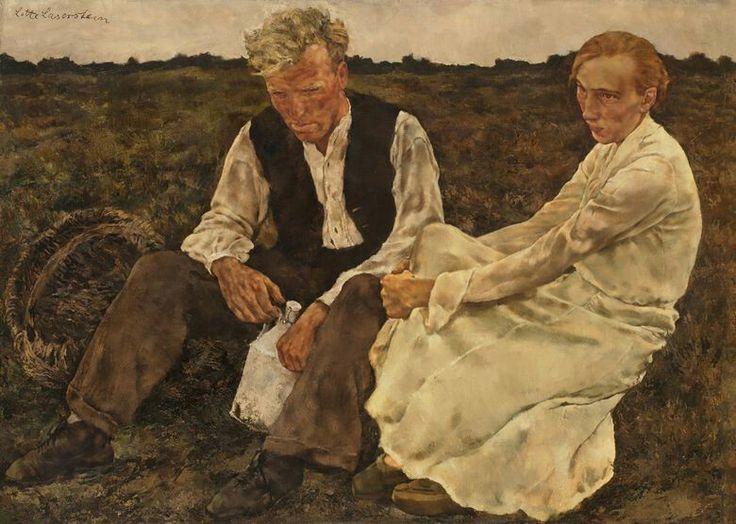 Lotte Laserstein (German-Swedish, 1898-1993) Couple on the heath (Paar auf der Heide), N/D
