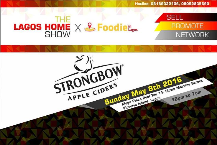 Great News Guys!! Strong bow will be giving away free cider at The Lagos Home Show. Did I mention it was free? See you guys there. #Thelagoshomeshow #May8th Free entry!! #cider #strongbow #fun #freebie #giveaway #drinks by thestagexposition