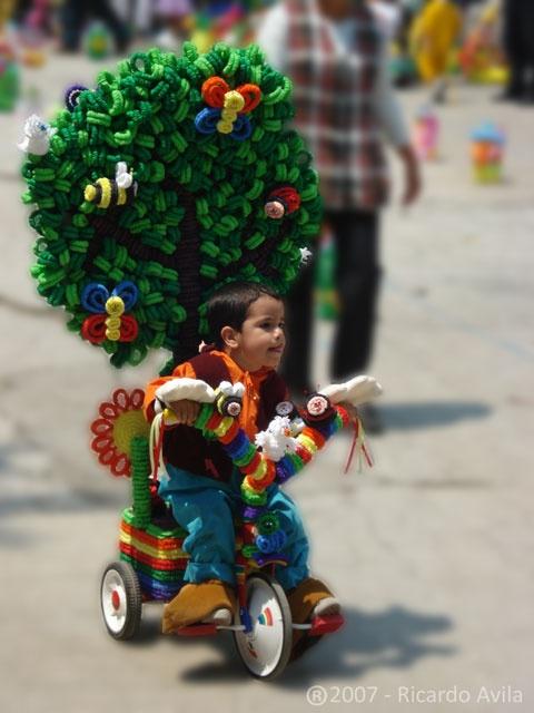 Desfile de primavera.  Estado de México, México.