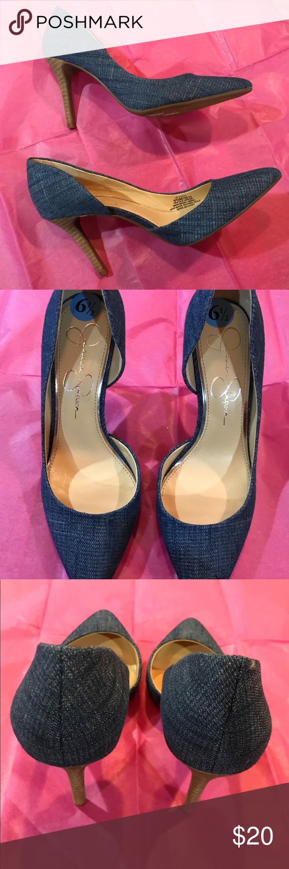 NEW Jessica Simpson Jean Heels-6 1/2 NEW Jessica Simpson Jean Heels-6 1/2.  Step out in style in these jean heels.  Adorable and classy! Jessica Simpson Shoes Heels