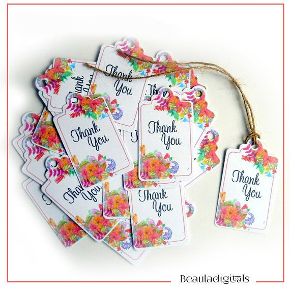 Floral Thank You Tags Small Swing Tags Watercolor Tags Gift