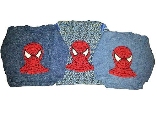 Ravelry: Spiderman trøje pattern by Trine Møller Larsen