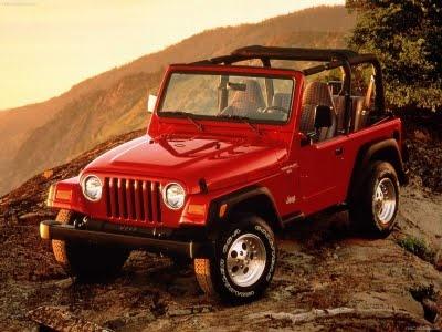 A red Jeep Wrangler...just like mine