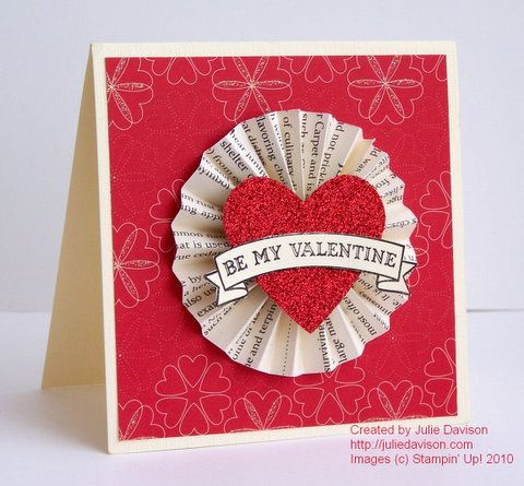 Julie's Stamping Spot -- Stampin' Up! Project Ideas Posted Daily: Medallion Valentine Card & Mini Tutorial