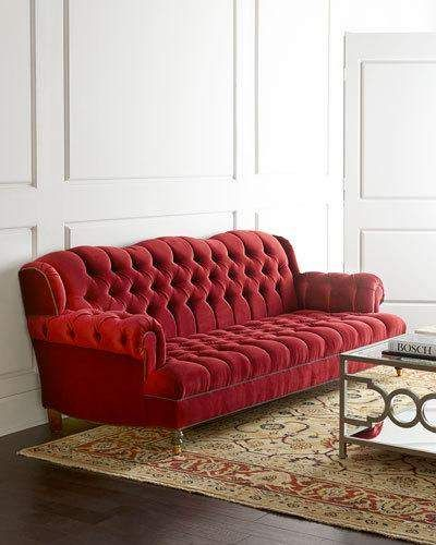 Haute House Mr. Smith Cranberry Tufted Sofa 94.5 in 2019 | Furniture ...