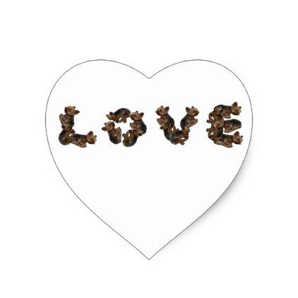 #Love Heart Sticker - #yorkshire #terrier #puppy #terriers #dog #dogs #pet #pets #cute #yorkshireterrier