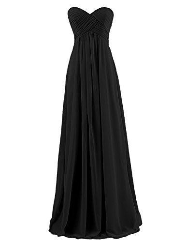 Dresstells Sweetheart Long Chiffon Lace Up Homecoming Dress, Cocktail, Prom, Evening Dress Black Size 6 Dresstells http://www.amazon.co.uk/dp/B00OUQUQQI/ref=cm_sw_r_pi_dp_.bgLwb1BPPS0D