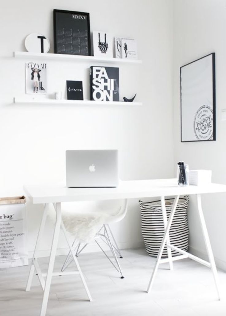 Can we talk about this office? Our striped canvas basket has found a heavenly home right here!  www.whiteandco.com.au