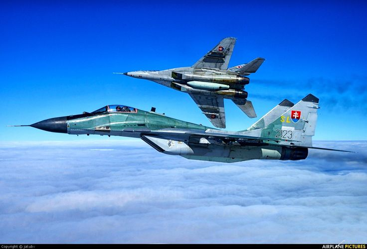 Slovak Air Force MiG-29AS with MiG-29UBS... VLK