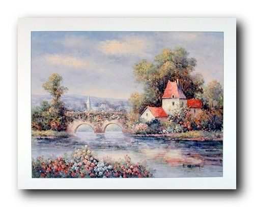 Perfect! This stunning nature scenery wall poster is sure to add a unique style to your room setting and goes with all decor style. This poster depicts the image of country cottage, bridge, colorful flowers and trees behind the cottage will make a perfect addition to your home. This poster will transform the look of your home and give a new touch. Ensures high quality with high degree of color accuracy.
