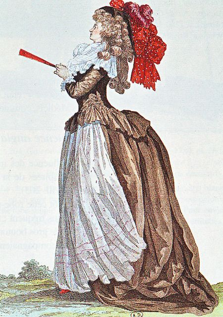 Galerie des Modes et Costumes Francaise, 1785  This is some epic hair!