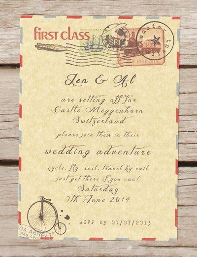 Travel theme wedding invitation passport by BeOurGuestDesigns, £2.50