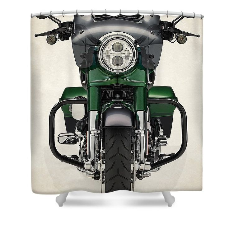 Harley Davidson Cvo Road King 2014d Shower Curtain For Sale By Stephanie  Hamilton