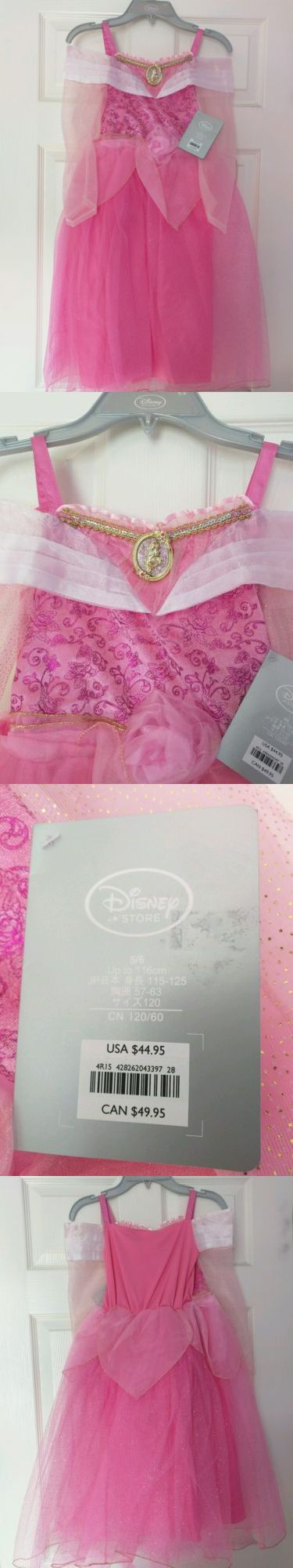Kids Costumes: Nwt Disney Store Princess Aurora Costume Dress Size 5/6 Pink Retail $44.95 BUY IT NOW ONLY: $35.0