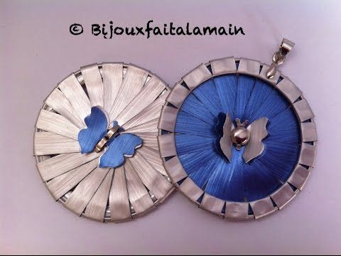 Comment découper une capsule pour faire un pendentif papillon 3D. - YouTube Borboleta 3D Mariposa 3D
