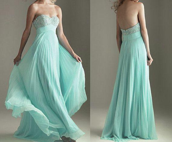 Cheap prom dress, long prom dress, long chiffon evening dress on Etsy, $99.00