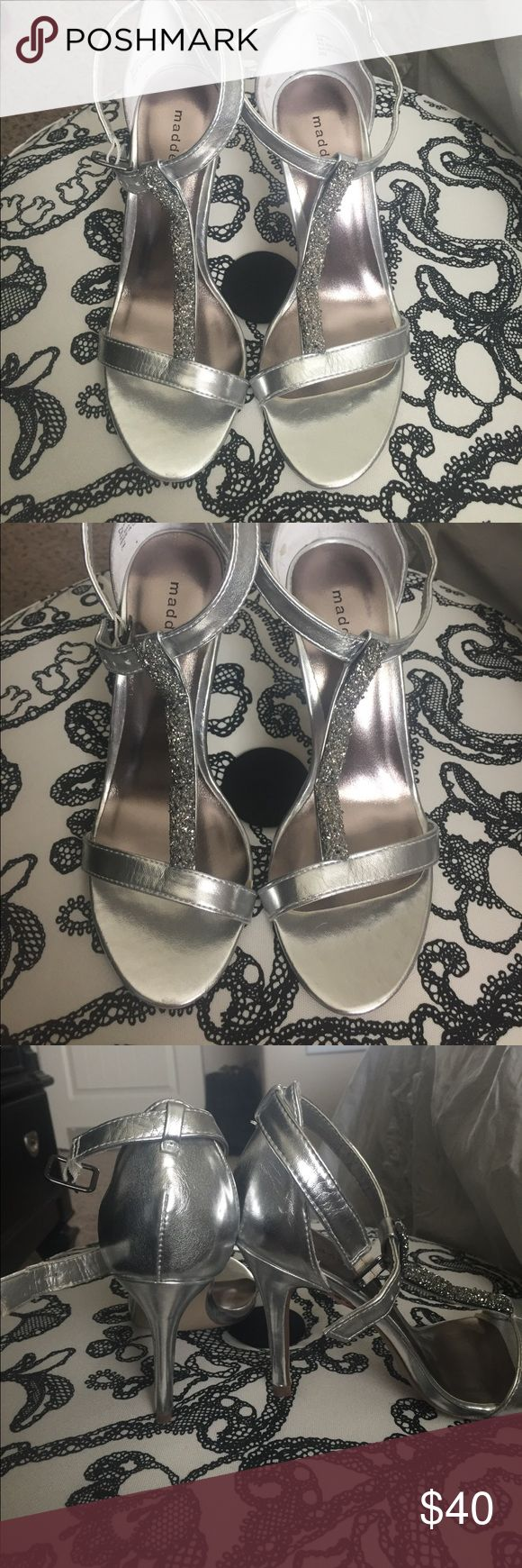 STEEVE MADDEN HIGH HEELS Here heels are perfect for homecoming and prom!!! Super comfy to walk in and go with everything! Madden Girl Shoes Heels