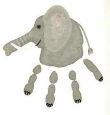 Elefant Handabdruck