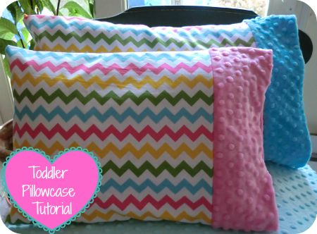 """You can make your own super easy and adorable boutique style minky toddler pillowcase. Need: 1/2 Yard of Cotton 1/4 Yard of Dimple Dot Minky Finished Toddler Pillow Size 12"""" x 16"""" Cut Minky strip 3..."""