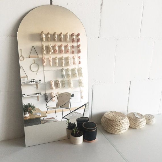 Everything about this makes me happy.. Modern Frameless Leaning Racetrack Table Vanity by SonadoraInLove