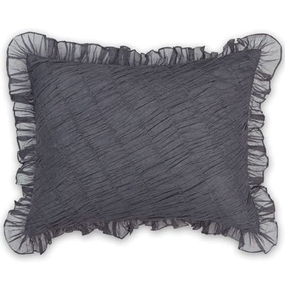 35x45cm Spanish Ruffle Cushion Smoke