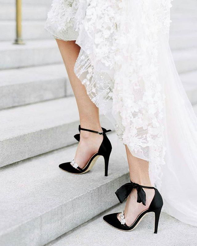 Black Shoes Weddingshoes Bridal Black Evening Shoes Sparkly