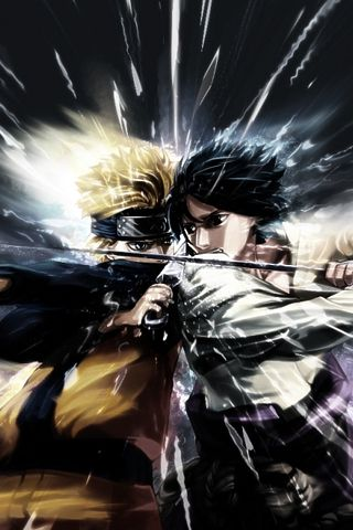 naruto vs sasuke. NARUTO. ANIME.  Pinned from Stephy Sama