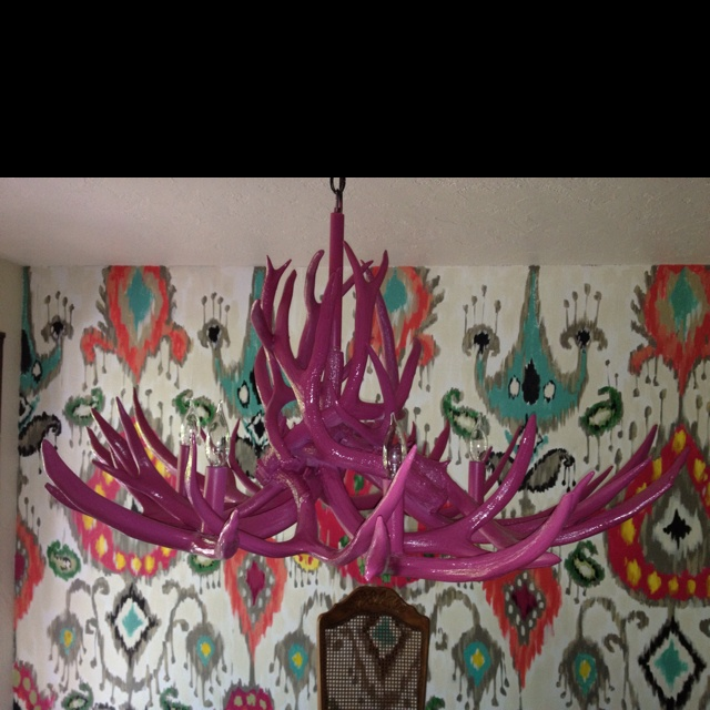 Love My Painted Antler Chandelier