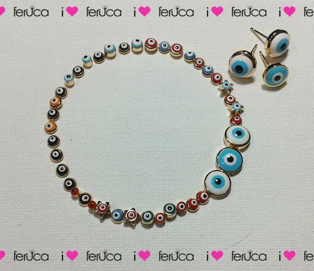 topitos de ojo turco @ferucamoda
