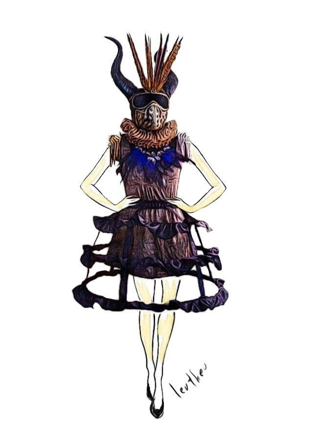 leotheo #voodoo a/w18-19 #fashion #darkartists #textileart #scifi #punk #steampunk