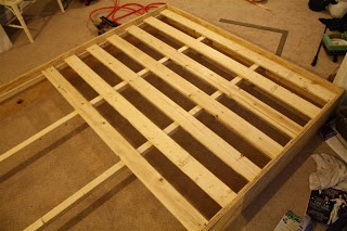 DIY Platform Bed - includes cut-list for Queen sized bed