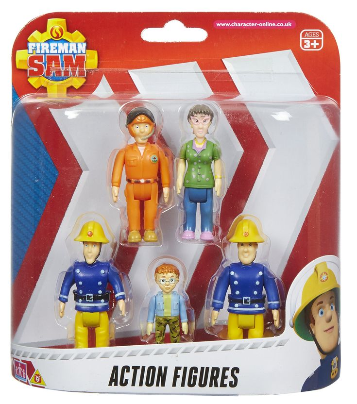 Fireman Sam Action Figures - 5 Figure Pack. Classic Fireman Sam styling. Scaled for play with other Little Character toys. Articulated arms and legs. Five of your favourite characters. Make up your own rescue adventures.