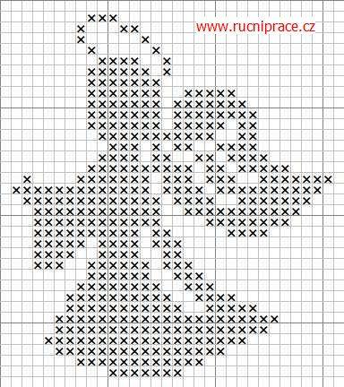 Risultati immagini per schemi punto croce angeli monocolore