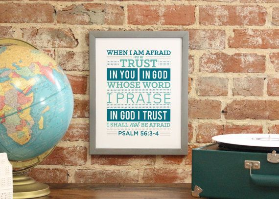 Bible Verse Art Scripture Typography print Bible by faithandpaper