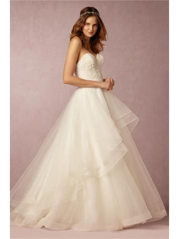 organza prinsesse ball kjole brude brudekjoler