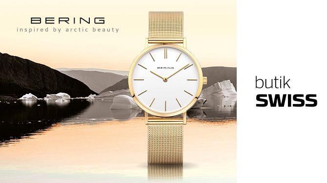 Zegarki Bering to elegancka prostota duńskiego wzornictwa inspirowana czystym i chłodnym pięknem Arktyki. Nie można przejść obok nich obojętnie. Zapraszamy do butiku SWISS.